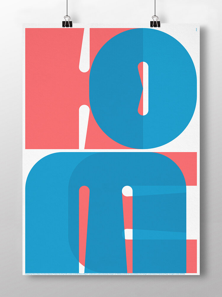 19 Artists versus Covid - 19. Poster design project by Alvaro Lopez & Fedrigoni