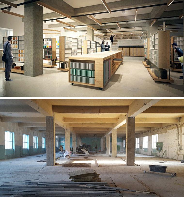 Una dintre cele mai bune idei din ultimii ani: Biblioteca de materiale MATER, o colecție extinsă și constant reînnoită de mostre de materiale, întinsă pe 1000mp