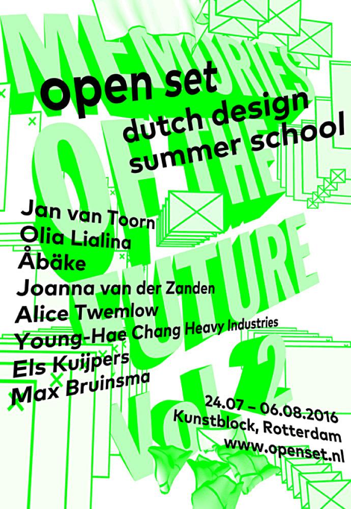 Școala de vară olandeză de design Open Set.  24.07 - 06.08.2016, Rotterdam, Olanda