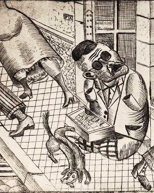 Otto Dix - O lume în ruine. Grafică 1920 -1924. 7 martie 2014 - 25 mai 2014, sălile Kretzulescu ale MNAR.