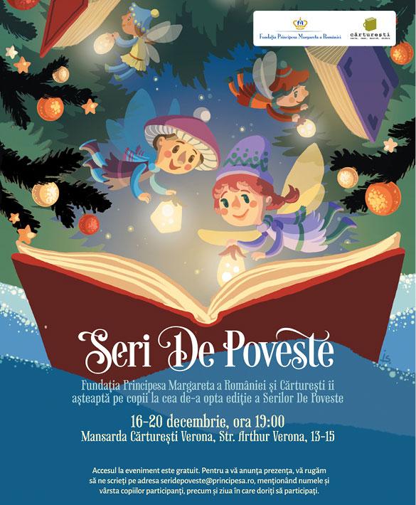 Seri de poveste - cea de-a opta ediție, între 16 și 20 decembrie, eveniment dedicat tuturor copiilor.