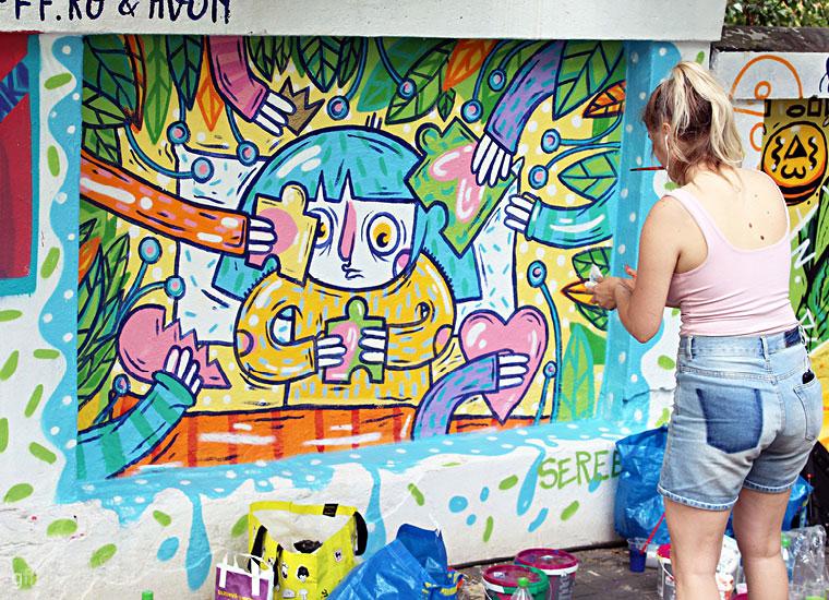 Pictură murală la Street delivery 2017 - 10 desenatori