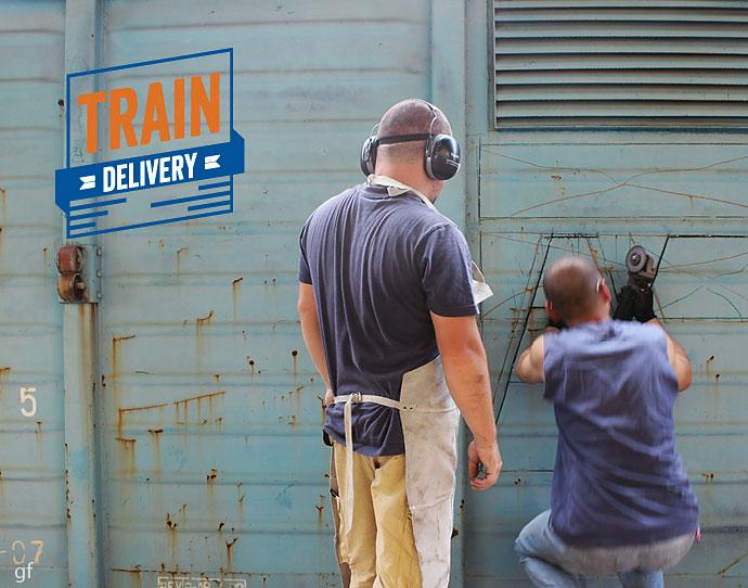 Train cuts - Train Delivery 2014, 25 - 27 iulie, Gara de Nord (video)