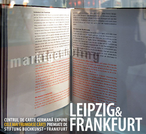 Cele mai frumoase cărți germane. Expoziție în cadru intim.
