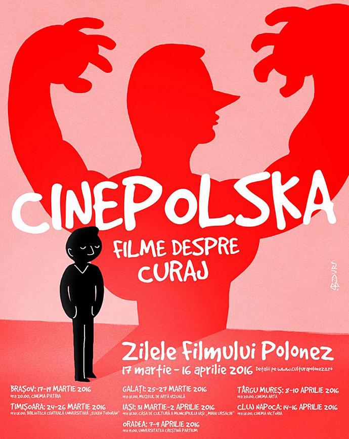 CinePOLSKA în orașele Brașov, Timișoara, Galați, Bălți, Iași, Tg.Mureș, Cluj-Napoca