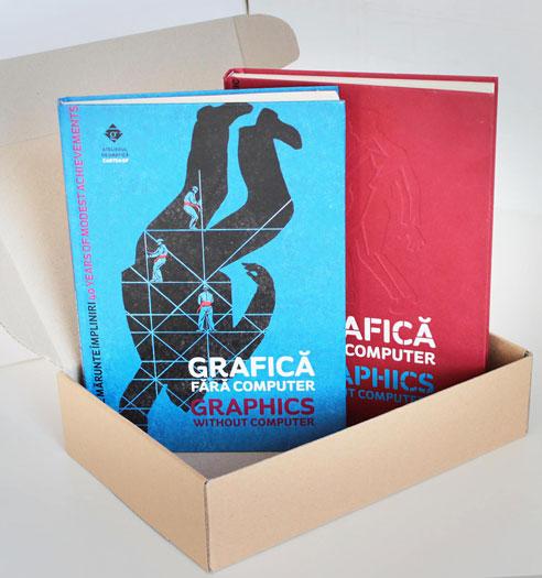 Atelierul de grafică dăruiește o casetă GF cu două cărți. Lângă care, în toamnă, va sta a treia.